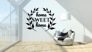 home sweet home napisy na scianę 3D